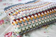Cherry Heart: A tale of two grannies, no pattern, but beautiful colors