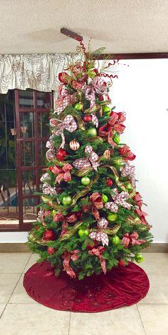 Árbol de Navidad 2016 cintas .