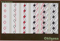 Chilgoza-tangle pattern by molossus, who says Life Imitates Doodles, via Flickr