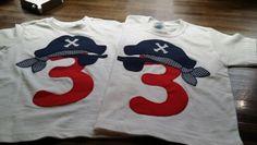 Camisetas pirata 3 años