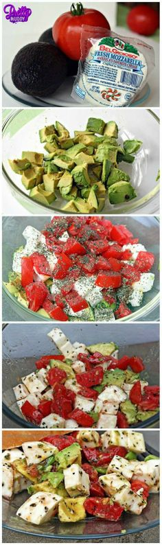 You can never go wrong with avocado, tomato, and mozzarella! #delicious #prettymuddy