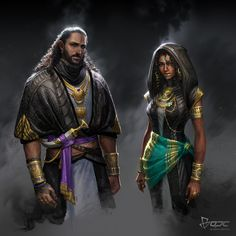 Men of Color In Fantasy Art — 影戰士 by Tina Yeh