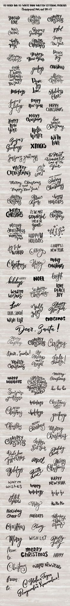 Merry Christmas kit + lettering. by HeArt Lab on @creativemarket