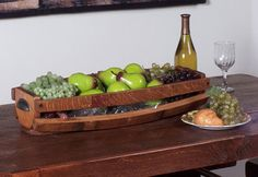 Food basket made from wine staves.