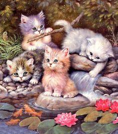 Милые котята. Картинки для декупажа.. Обсуждение на LiveInternet - Российский Сервис Онлайн-Дневников