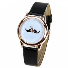 Quartz Watch with Dots Indicate Leather Watchband for Women - Black, BLACK in Women's Watches