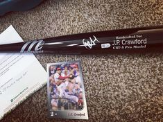 Holy moly!!!!! This just arrived on our doorstep frm Community Outreach @citizensbankpark @phillies. The enclosed letter says @jp_crawford signed this bat on Saturday for us!! Had NO idea this was coming!!! This INCREDIBLE  donation is for the #MaggieAndHerDog benefit that happens to be this upcoming weekend!!! It will be a silent auction item that attendees will have the opportunity to bid on!!! All proceeds will be helping us get Maggie her service dog Filly !!!!! THIS. IS. AMAZING…