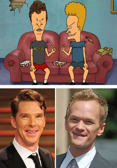 Beavis And Butt-Head Look Like Neil Patrick Harris And Benedict Cumberbatch
