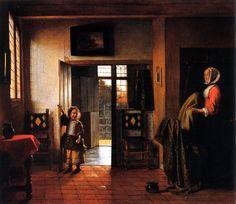 Pieter De Hooch  The Bedroom