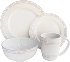 Bryant Dinnerware Set  sc 1 st  Pinterest & Roscher 32-piece Hobnail Bone China Dinnerware Set   Overstock.com ...