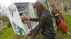 Erdeven. Quand un ancien réfrigérateur devient une boîte à livres. Info - Vannes.maville.com