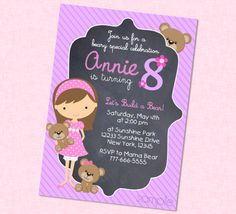 Build a Bear Birthday Invitation Available With by BriezeeBoutique