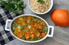 Vegan garden vegetable tagine