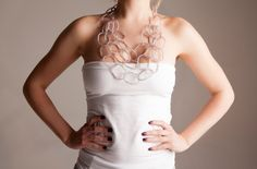 Boho lightweight plastic Ring Bib Necklace by vquadroitaly on Etsy