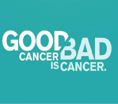 No I am sorry, CANCER is CANCER! There isn't a good or a bad cancer. So please don't down play it! I Am Sorry, Quote Board, Cancer, Play, Logos, Quotes, Quotations, Im Sorry, I'm Sorry