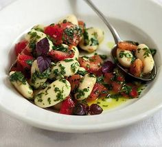 Butter bean & chilli tomato salad recipe - Recipes - BBC Good Food