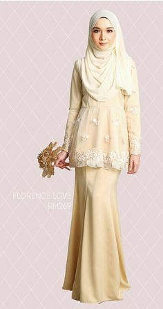 Florence Love @minimalace Modest Fashion Hijab, Muslim Fashion, Skirt Fashion, Fashion Outfits, Dress Brokat Modern, Pretty Dresses, Beautiful Dresses, Malay Wedding Dress, Kebaya Dress