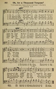 O for a Thousand Tongues to Sing | Charles Wesley