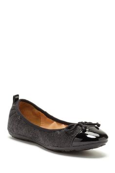 Contrast Toe Glitter Ballet Flat by Carrini on @HauteLook