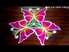 Simple Rangoli Designs Images, Rangoli Designs Flower, Rangoli Designs Diwali, Rangoli Designs With Dots, Rangoli With Dots, Beautiful Rangoli Designs, Simple Rangoli Kolam, Kolam Rangoli, Free Hand Rangoli Design