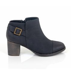 Restricted Country Boot in Black On SALE-This block heel bootie has a decorative side buckle making it perfect to pair with jeans for a day of errands but dressy enough for a night on the town!