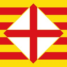 Flag of Barcelona province Spanish Flags, Countries And Flags, Antoni Gaudi, Flags Of The World, Barcelona Spain, Wonders Of The World, Statues, History, Bulgaria