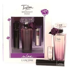 LANCÔME TRÉSOR MIDNIGHT ROSE GIFTSET. Midnight Rose EdP 30ml, Hypnôse Star Mascara 2ml, Rouge in Love Lipstick 1,65ml. 325 SEK (before 455 SEK) Browse more here: http://www.parelle.se/sv/product/56355/tresor-midnight-rose-giftset #Sweden #ParelleCosmetics #Travel #100Ml #Makeup #Fragrances #Cosmetics #Skincare #Lancome