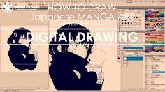 ✔ Digital Drawing   How to draw Manga Art 2017.10.30