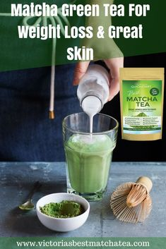 Matcha Green Tea is great for weight loss and great skin, and so many other amazing benefits! It's no wonder Lady Gaga loves it and drinks it regularly. Weight Loss Tea, Green Tea For Weight Loss, Matcha Benefits, Tea Benefits, Kombucha, Pate A Muffins, Anti Pickel Creme, Best Matcha Tea, Latte Matcha