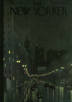 The New Yorker October 29, 1932 Cover Art - Adolph K. Kronengold