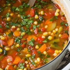 This Vegetable Soup has become one of my most popular soup recipes and for good reason! It's healthy, it's comforting and it's so much better than canned!