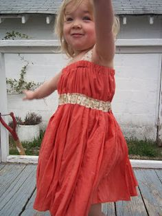 Bright Mama: Adult Skirt to Toddler Dress Sewing Tutorial