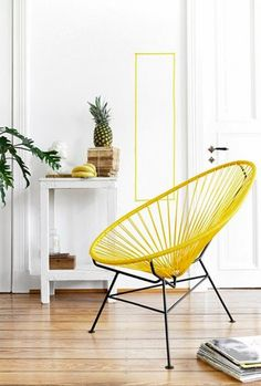 Fauteuil Acapulco - OK Design pour Sentou Edition the yellow touch Ok Design, House Design, Design Ideas, Boho Living Room, Home And Living, Home Furniture, Furniture Design, Garden Furniture, Acapulco Chair