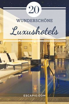 Erst wenn auch die allerhöchsten Ansprüche erfüllt werden, wird ein Hotel zum Luxushotel. Beach Please, Indoor Swimming Pools, Komfort, Daydream, Beautiful Images, Vacation, Indoor Pools