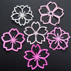 DIY Cherry Blossom cut outs tutorial.