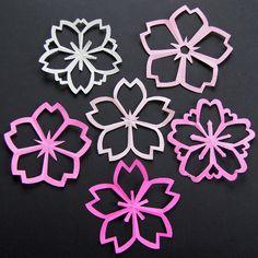 "Nice tutorial on omiyageblogs.com to make cherry blossom ""kiragami"".  I love cherry blossoms :)"