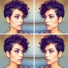 Pixie Cut Curly Hair, Short Curly Pixie, Curly Pixie Hairstyles, Short Human Hair Wigs, Short Curly Haircuts, Short Hair Cuts, Cool Hairstyles, Short Hair Styles, Natural Hair Styles