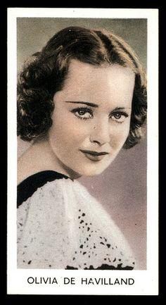Cigarette Card - Olivia de Havilland
