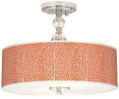 "Stacy Garcia Seafan Coral 16"" Wide Semi-Flush Ceiling Light -"