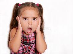 Cute Suprised Little Girl. Young adorable child with a shocked expression on her , Suprised Face, Face Images, Facial Expressions, Photography Website, Technology Logo, Girls Image, Art Reference, Little Girls, Logo Design