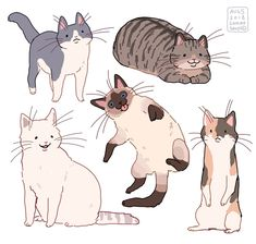 cat drawing gift part 1 for my friend ayesha! Cute Animal Drawings, Animal Sketches, Cool Drawings, Art Sketches, Horse Drawings, Pretty Art, Cute Art, Character Illustration, Illustration Art