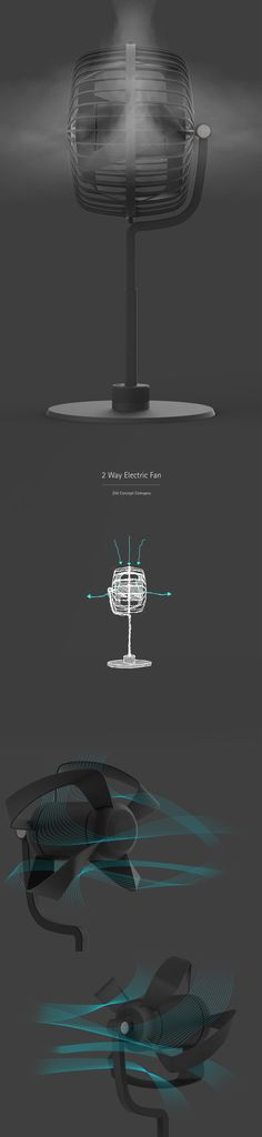 2 Way Electric Fan on Behance