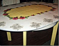 Dining table decoupage - my latest project #decoupage