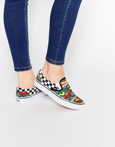 Vans Late Night Print Classic Slip On Trainers at asos.com 6c43f071d5