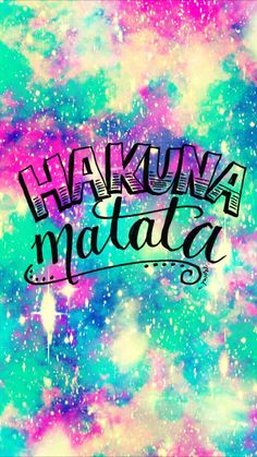 Hakuna Matata Galaxy iPhone/Android Wallpaper I Created For The App Top Chart