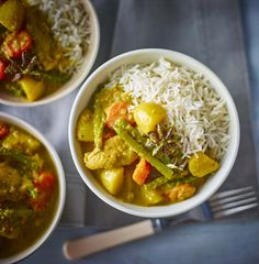 This coconut-rich, Malaysian chicken curry is a doddle to prepare for the family and full of kid-friendly veg
