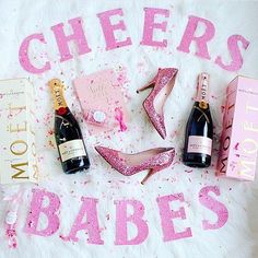 {CHEERS BABES } So happy to see the lovely @pinkthetown celebrate NYE with our Pretty in Pink {Confetti Pop It!}  Tagged are a few fabulous beauties we adore & so thankful for their continued love, support + friendship ~ CHEERS, BABES! #NYE2015 #ThrowConfetti #SipSip #PopFizzInk #MoetMoment #PinkShoes #PursuePretty