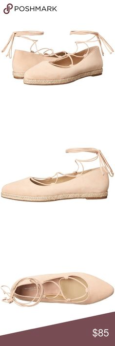 NIB Michael Kors Flats Ballerina Lace Up Adorable ballerina lace up espadrilles. Perfect nude shade. Michael Kors Collection.   These would be adorable with a sundress or skinny jeans. Even a tshirt and cutoffs! Such a fun shoe! Make an offer! New in box. Michael Kors Collection Shoes Flats & Loafers
