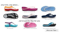 This weekend Crocs bring you their fantastic flip flop range. With the weather heating up and the summer creeping ever closer, this footwear range is perfect wherever you plan to go on holiday! Also, Crocs are pleased to announce the extension of their 5% off voucher code until 20th June 2012.