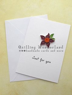 Paper Quilling Just for you Card Floral by QuillingWonderland